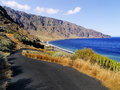 Playas hierro island las cliffs and beach on canary islands spain Royalty Free Stock Images