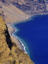 Playas hierro island las cliffs and beach on canary islands spain Stock Photos