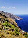 Playas hierro island las cliffs and beach on canary islands spain Stock Image