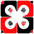 Playcards icons Royalty Free Stock Images