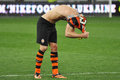 Player removes his shirt after the match photo was taken during between shakhtar donetsk city and dnipro dnepropetrovsk city at Royalty Free Stock Photos