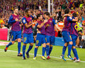 Players celebrating a goal