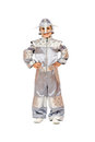 Playful boy in astronaut costume Royalty Free Stock Images