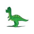 Playful dinosaur illustration