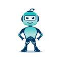 Playful robot illustration