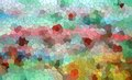 Playful shapes and diamond like forms, colorful abstract background Royalty Free Stock Photo