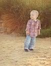 Playful toddler boy Royalty Free Stock Photo