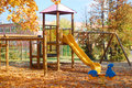 Playground in the autumn early on Stock Image