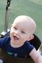 Playground: Happy Baby Swinging Royalty Free Stock Photo