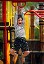 Playground boy Royalty Free Stock Photo