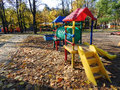 Playground childhood outdoors play park recreational in a city for entertainment Royalty Free Stock Image