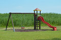 Playground childish in a meadow with cane Stock Photography