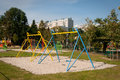 Playground children s with swings in krakow Stock Images