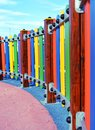 Playground colorful fence Royalty Free Stock Photo