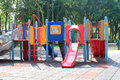 Playground a colourful children equipment Royalty Free Stock Image