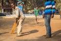 Playground cricket Royalty Free Stock Photo