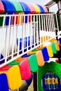 Playground detail of colorful child s stairs and handrail Stock Photography