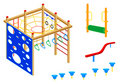 Playground equipment | Set 4 Royalty Free Stock Photos