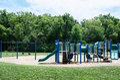 Playground fun nice neighborhood with swings slides and climbing Stock Image