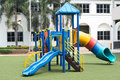Playground on green grass and outdoor Royalty Free Stock Photography