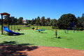 Playground in park Royalty Free Stock Photo