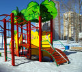 Playground snowy winters Royalty Free Stock Photo