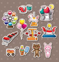 Playground stickers Royalty Free Stock Image