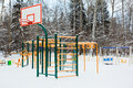 Playground  under snow Stock Images