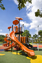 Playgrounds in garden Royalty Free Stock Image