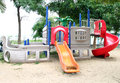 Playgrounds in park Stock Images