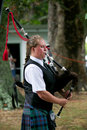 Playing the bagpipes paeroa february performer at st paeroa highland games tattoo on february in paeroa new zealand Royalty Free Stock Photo