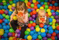 Playing with balls Royalty Free Stock Photo