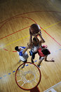 Playing basketball game Royalty Free Stock Image
