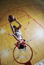 Playing basketball game Royalty Free Stock Photography