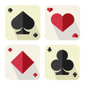 Playing card aces of flat icon Stock Photography