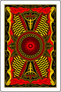 Playing card back side 60x90 mm Stock Photography