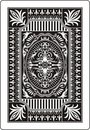 Playing card back side 62x90 mm Stock Photo