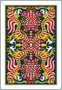 Playing card back side 62x90 mm Royalty Free Stock Photo