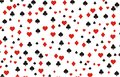 Playing card background pattern suitable for Royalty Free Stock Images