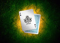 Playing card black jack with grunge effects Stock Photo