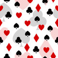 Playing card elements seamless pattern with Stock Photo