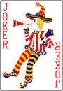 Playing card joker red 62x90 mm Royalty Free Stock Image
