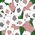 Playing card pattern Royalty Free Stock Photo