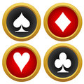 Playing card s icons vector on a white background Stock Photography