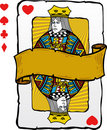Playing card style queen illustration Royalty Free Stock Photos
