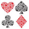 Playing card suits Stock Image
