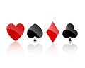 Playing card suits illustration of Stock Photo