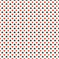 Playing card suits seamless pattern - hearts, clubs, spades, diamonds/. Royalty Free Stock Photo
