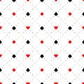 Playing card suits signs seamless pattern background Royalty Free Stock Photo
