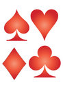 Playing card symbols Royalty Free Stock Photos